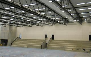 Sporthal Tielt Brandwerend verfsysteem na montage