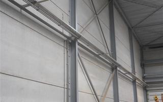 Bedrijf Bostoen te Drongen Brandwerend verfsysteem  Nieuw gebouw